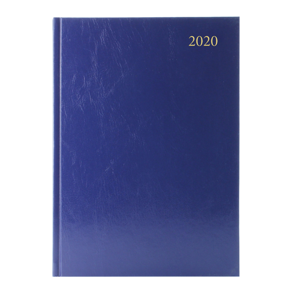 Desk Diary A4 Day Per Page Appointments 2020 Blue