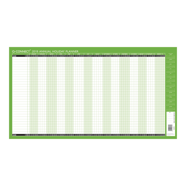 Q-Connect Holiday Planner Unmounted 754x410mm 2019