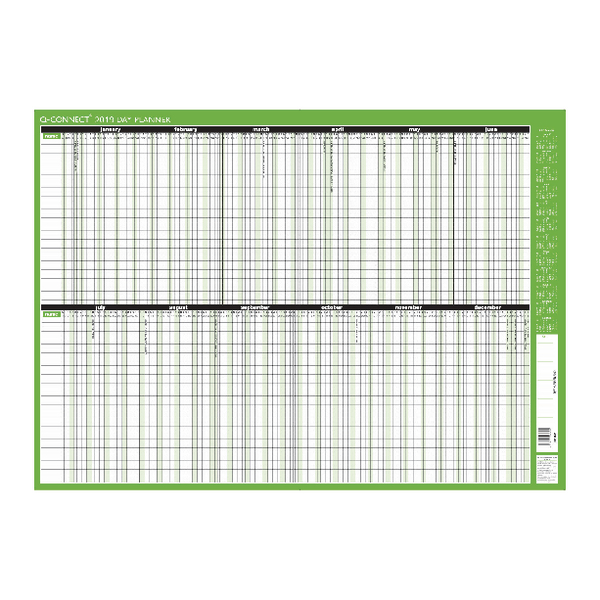 Q-Connect Day Planner Mounted 855x610mm 2019
