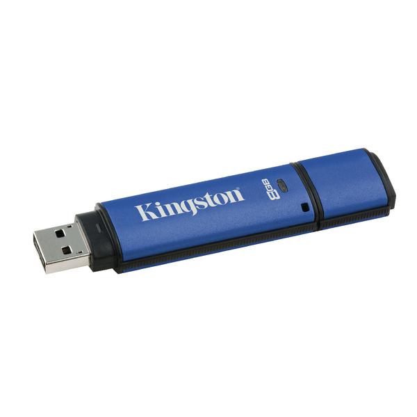 Kingston Data Traveler vault privacy USB drive 8GB Blue DTVP/8GB