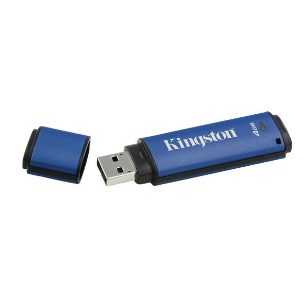 Kingston DataTraveler Vault Privacy Flash Drive 4GB USB Flash Drive DTVP30/4GB
