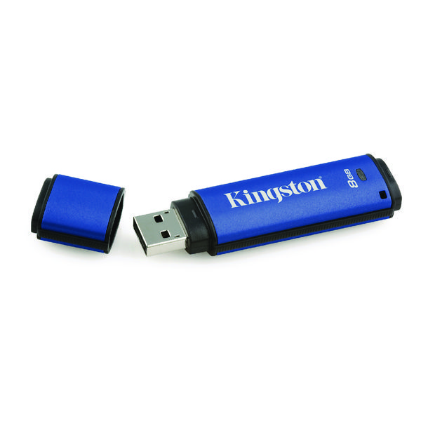 Kingston DataTraveler DTVP30/8GB Encrypted Flash Drive