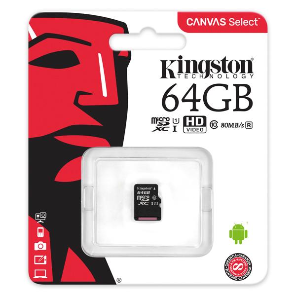 Kingston Canvas Select microSDXC 64GB SDCS/64GB