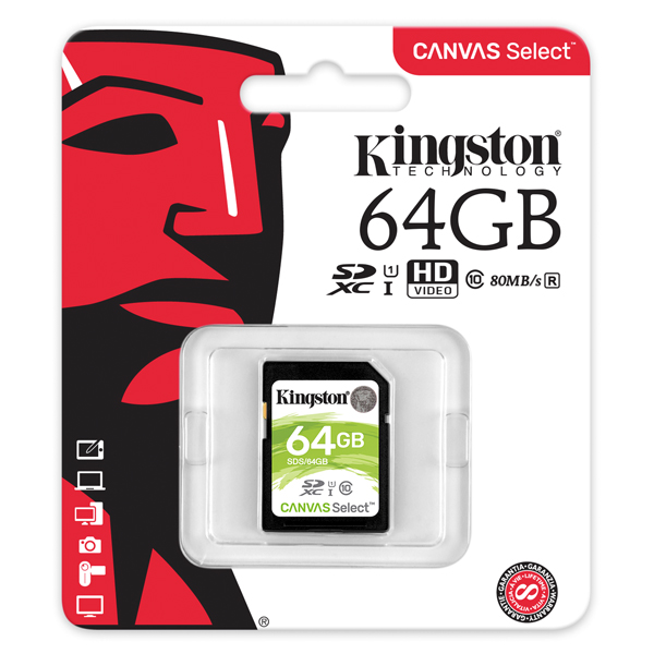 Kingston Canvas Select 64GB SDXC Card SDS/64GB