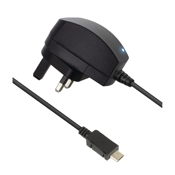 Kondor Micro USB 2.1A Black Mains Charger 8600BMC2A