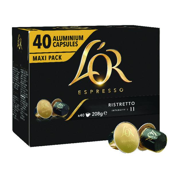 LOr Nespresso Ristretto Capsule (Pack of 40) 4028790