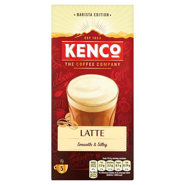 Kenco Caffe Latte Instant Sachet (Pack of 8) 4031816