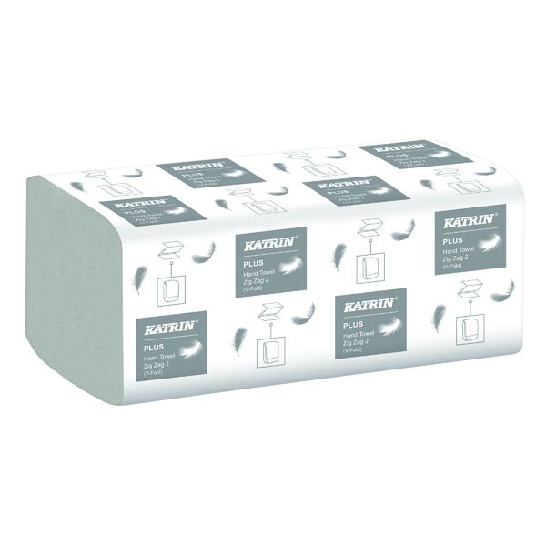 Katrin Plus Zig Zag 2-Ply White (Pack of 4000) 35311