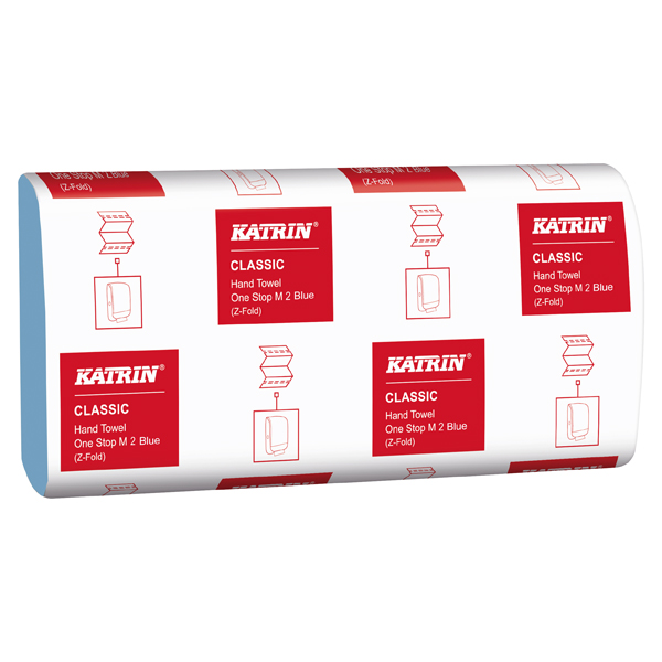 Katrin Classic Hand Towel One Stop M2 Blue (Pack of 3024) 38107