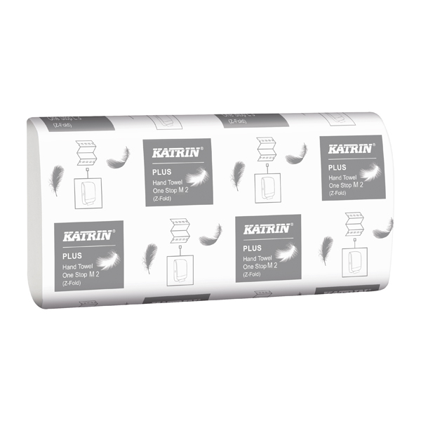Katrin Plus Hand Towel One Stop M2 White (Pack of 3024) 345379