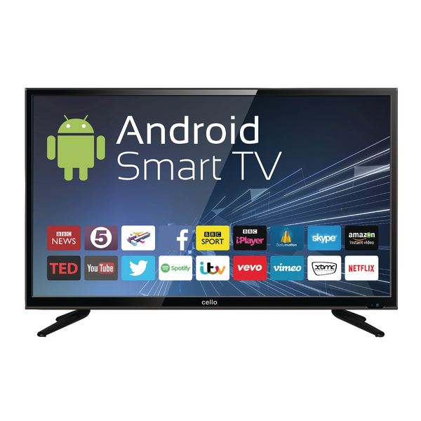 Image for 40inch Android Smart Freeview T2 HD LED TV With Wi-Fi C40ANSMT