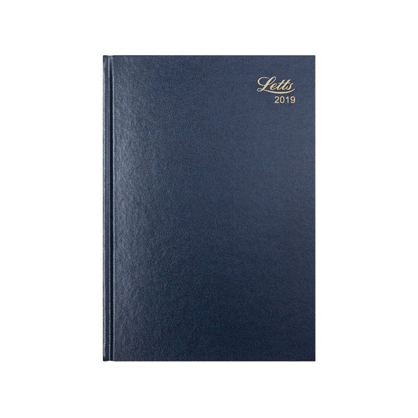 Letts 11Z A4 Day/Page Diary Blue 2019 19-T11ZBL