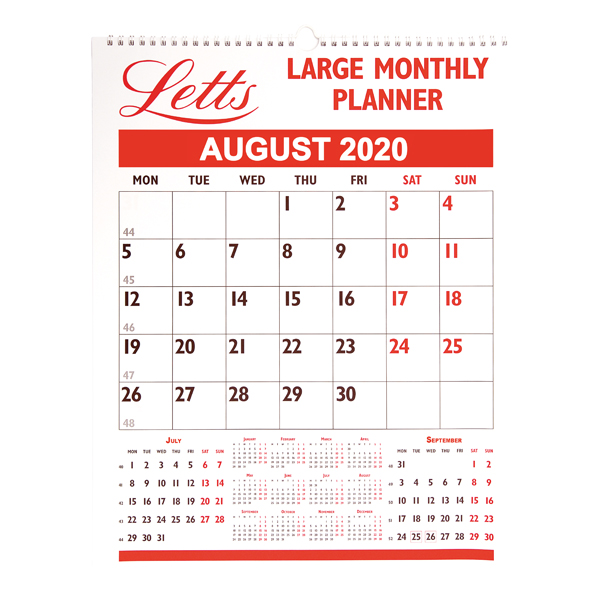 Letts Large Monthly Planner 2020 20-TLMP