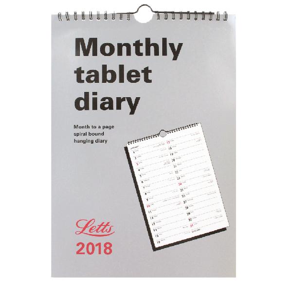Letts Monthly Tablet Calendar 2018 6-TMT