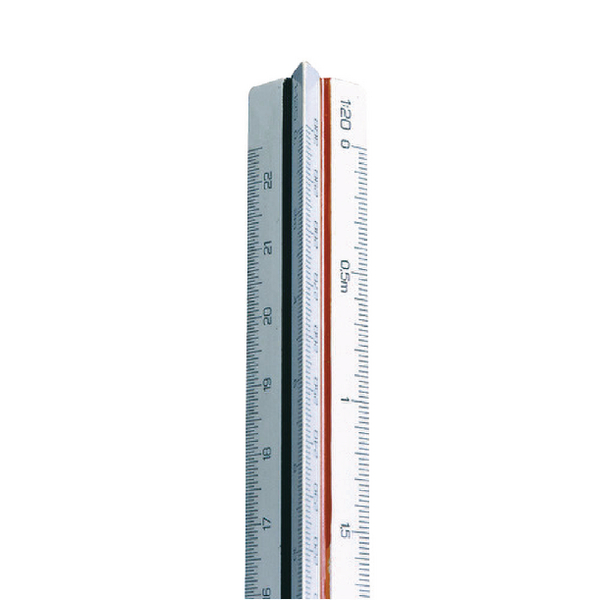 Linex Triangular Scale Ruler 1:1-500 30cm White LXH 312