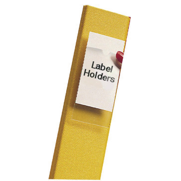 Image for Pelltech Clear/White Label Holders 55x102mm (Pack of 6) 25330