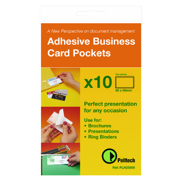 Image for Pelltech Business Card Holder Side Opening 60x95mm (Pack of 10) PLH 25510