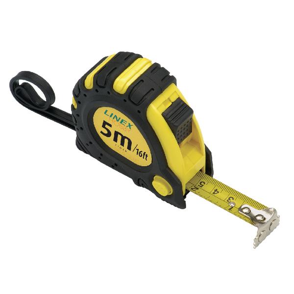 Linex Tape Measure 5m Black /Yellow EMT5001