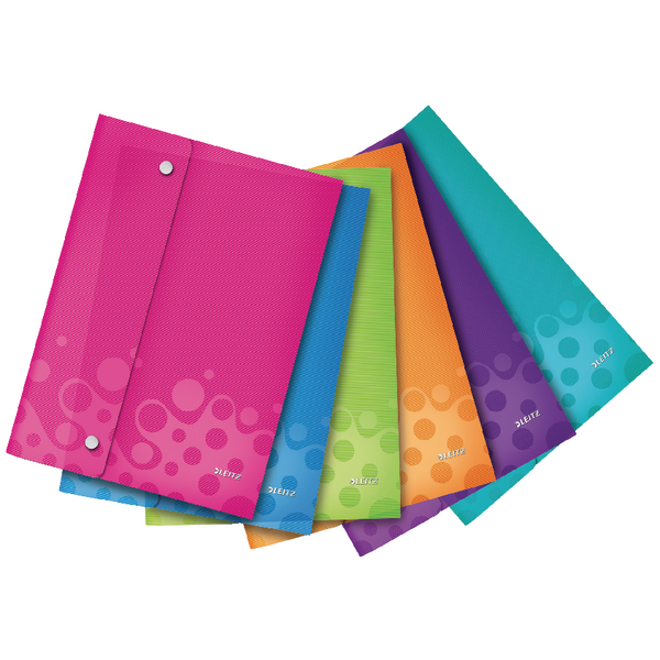 Leitz WOW Polypropylene Wallet Folder A4 Assorted (Pack of 6) 44690099