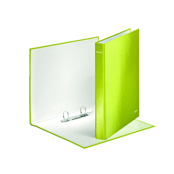 Leitz Wow 2 D-Ring Binder 25mm A4 Plus Green (Pack of 10) 42410064