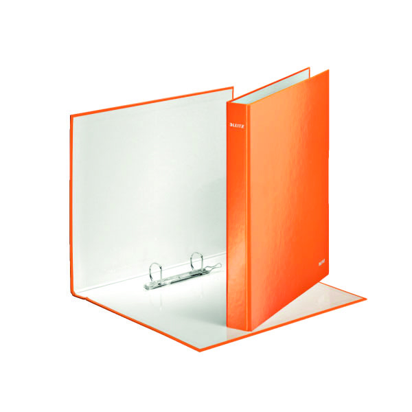 Leitz Wow A4+ 25mm Orange 2 D-Ring Binder (Pack of 10) 42410044
