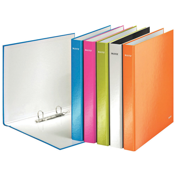 Leitz Wow 2 D-Ring Binder 25mm A4 Plus Assorted (Pack of 10) 42412099