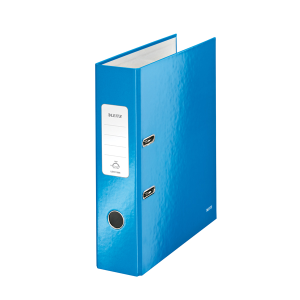 Leitz Wow 180 Lever Arch File 80mm A4 Blue (Pack of 10) 10050036