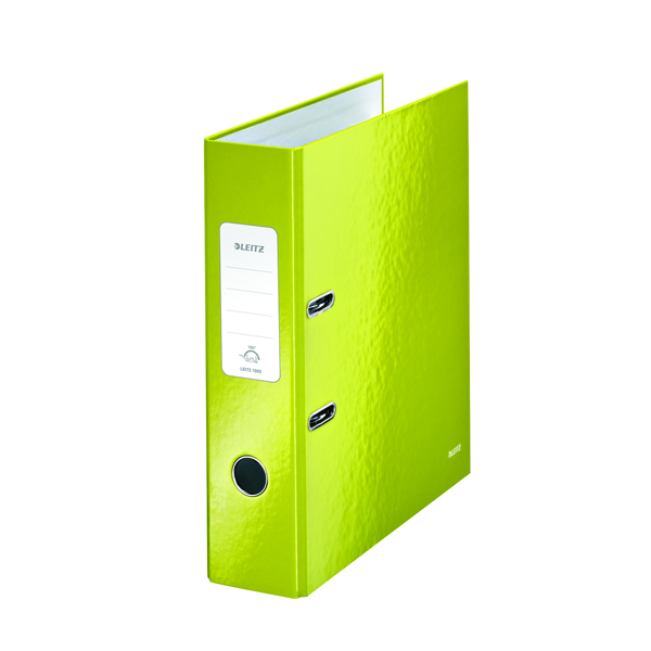 Leitz Wow 180 Lever Arch File 80mm A4 Ice Green (Pack of 10) 10050064