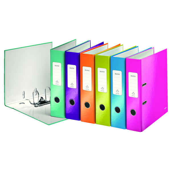 Leitz Wow 180 Lever Arch File 50mm A4 Assorted (Pack of 10) 10061099