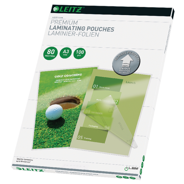 Leitz iLAM Premium Laminating Pouches UDT A3 160 Micron (Pack of 100) 74850000