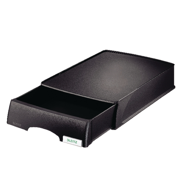 Leitz Plus Letter Tray With Drawer Unit Black 52060001