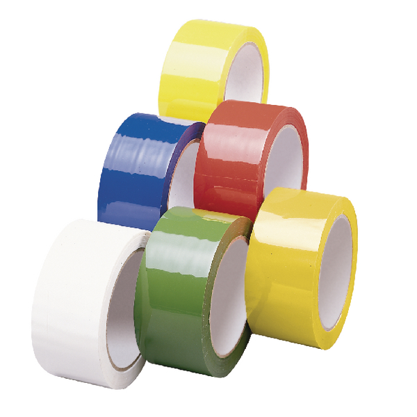 Polypropylene Tape 50mmx66m Yellow (Pack of 6) APPY-500066-LN