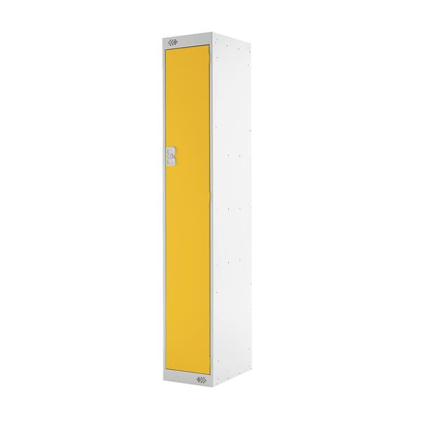 Single Compartment Locker D300mm Yellow Door MC00006