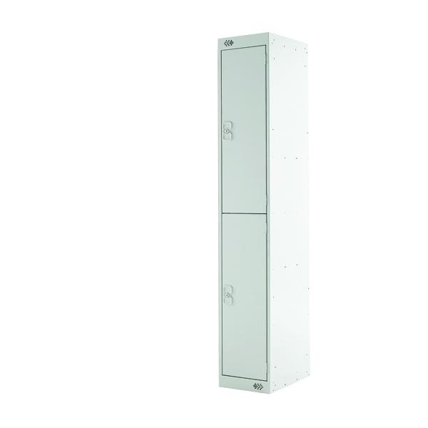Two Compartment Locker D300mm Light Grey Door MC00008