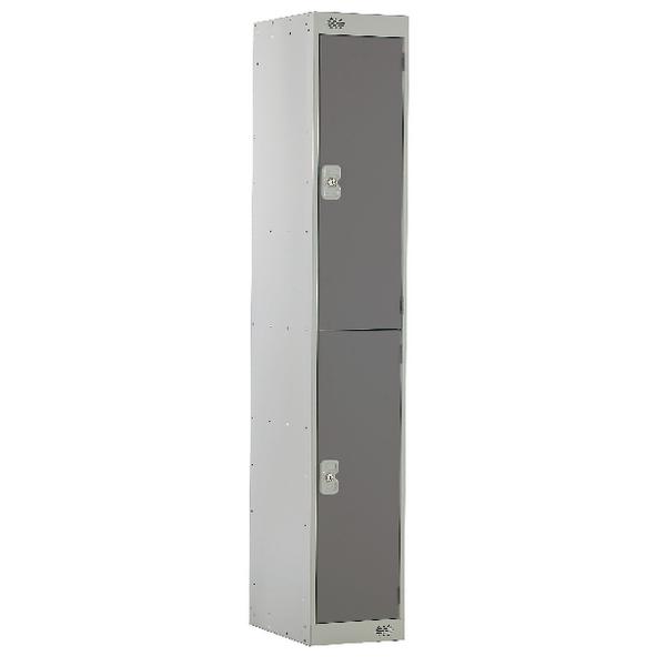 Two Compartment Locker D300mm Dark Grey Door MC00009