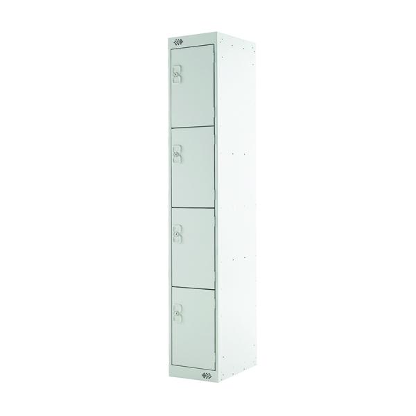 Four Compartment Locker D300mm Light Grey Door MC00020