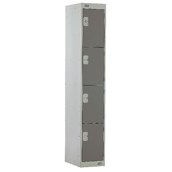 Four Compartment Locker D300mm Dark Grey Door MC00021