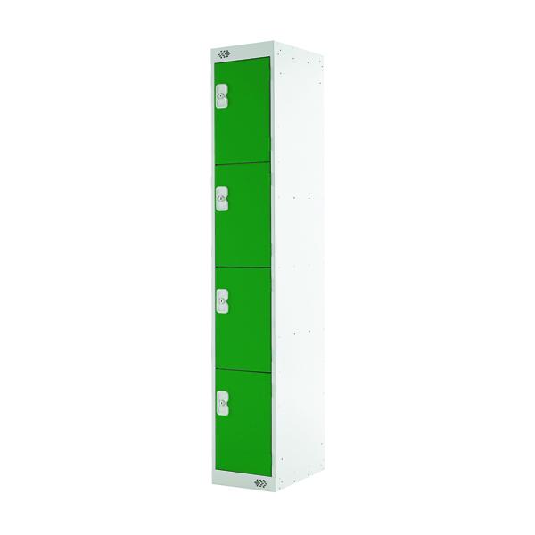 Four Compartment Locker D300mm Green Door MC00022