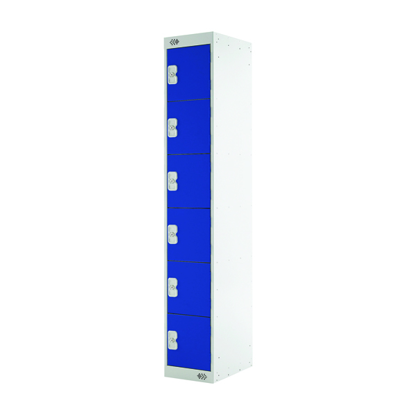 Image for Blue Door 300mm Deep Six Compartment Locker