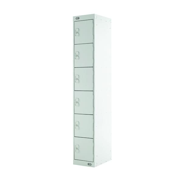 Six Compartment Locker D300mm Light Grey Door MC00032