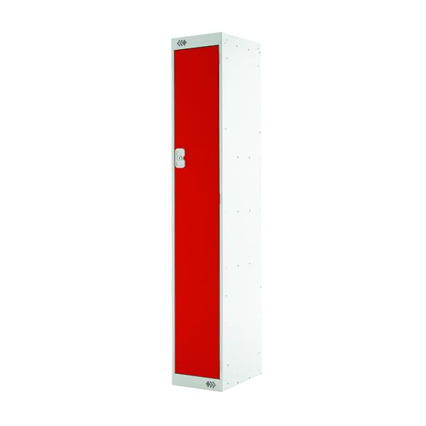 Single Compartment Locker D450mm Red Door MC00041