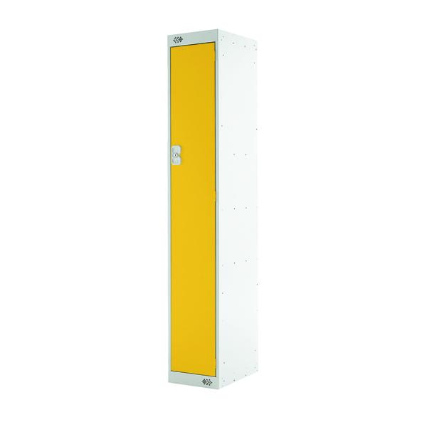 Single Compartment Locker D450mm Yellow Door MC00042