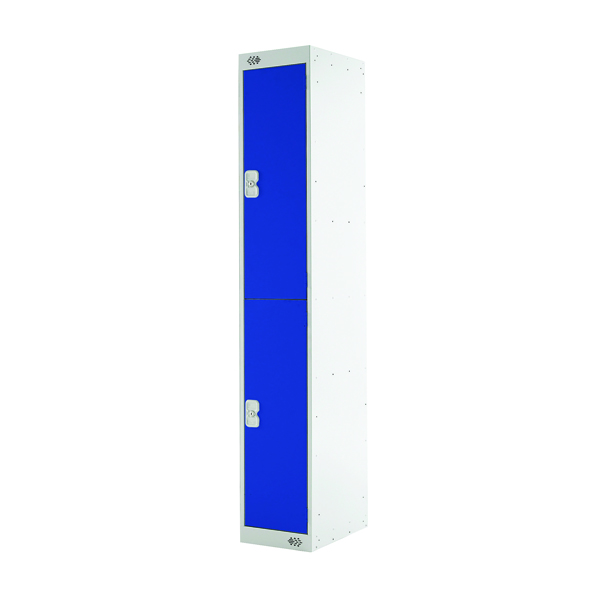 Two Compartment Locker D450mm Blue Door MC00043