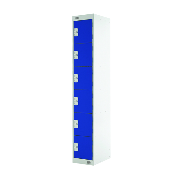 Image for Blue Door 450mm Deep Six Compartment Locker