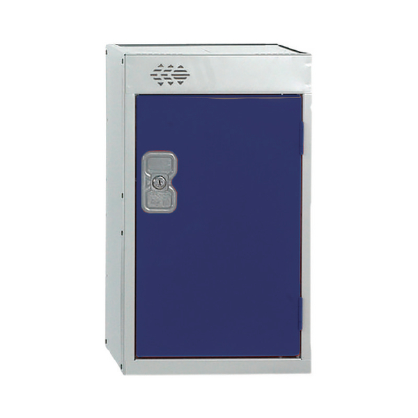 Image for Quarto One Compartment Locker Blue Door 300mm Deep