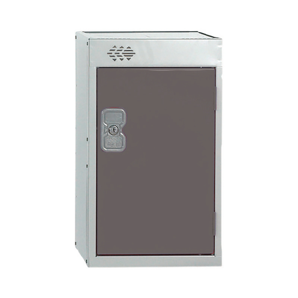 Image for Quarto One Compartment Locker Dark Grey Door 300mm Deep