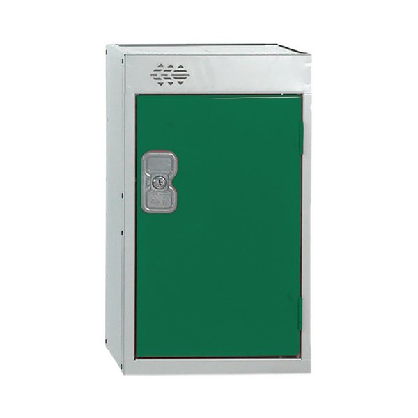Image for Quarto One Compartment Locker Green Door 300mm Deep