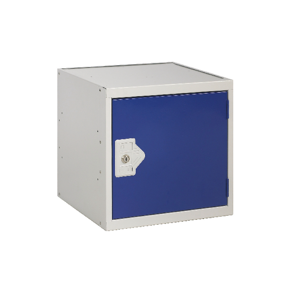 Image for Cube Locker One Compartment Blue Door 300x300x300mm
