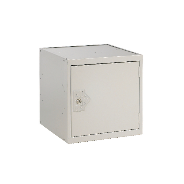 Image for Cube Locker One Compartment Light Grey Door 300x300x300mm