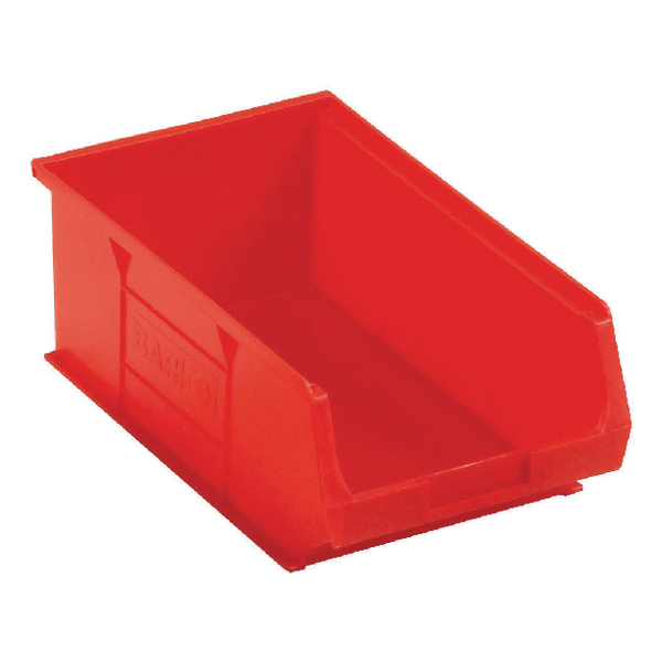 Image for Barton Tc4 Small Parts Container Semi-Open Front Red 9.1L 200X355X125mm (Pack of 10) 010042